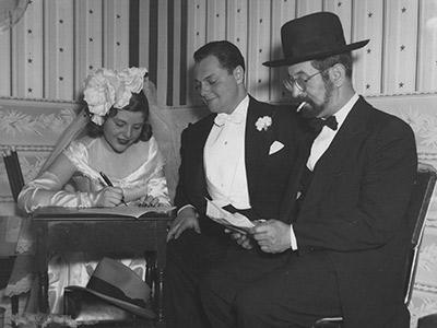 Dorothy and Harold Janoff at wedding