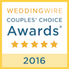 Wedding Wire Couple's Choice Award 2016 Logo