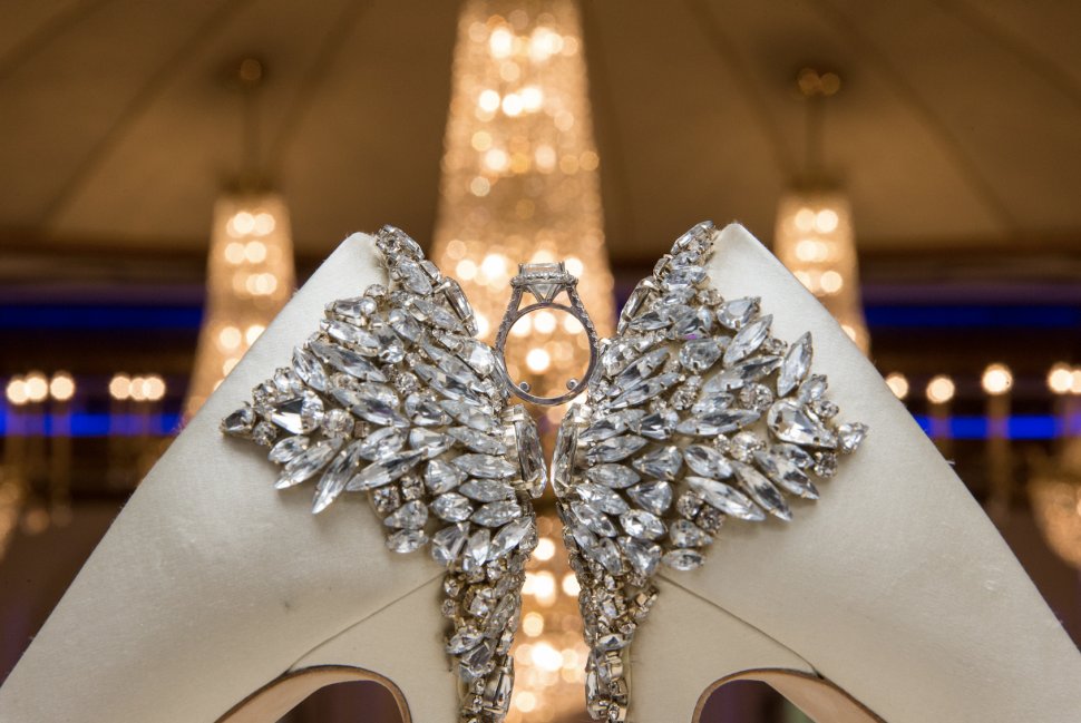 Beautiful jewelry on display at The Crystal Plaza wedding venue