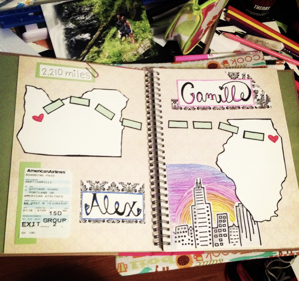 A scrapbook from a long-distance relationship